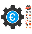 Euro development gear icon with valentine bonus