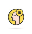 face id simple linear icon vector image