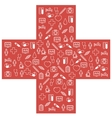 First aid medical icons set vector image