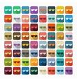 Flat design sunglasses vector image vector image