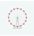 flat ferris wheel vector image