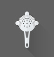 flat style barman strainer icon vector image