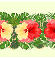 floral border seamless background with tropical vector image vector image
