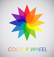 Flower Color Wheel vector image