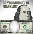 Franklin whimsical money graphic vector image vector image