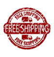 free shipping stamp rubber for delivery service vector image vector image