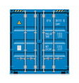 Freight shipping cargo container vector image vector image