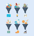 funnel sales money generation symbol business vector image