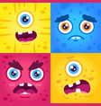 funny monster expressions halloween cute vector image vector image