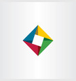 geometric square business logo with triangles vector image vector image