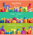 gift banners for happy birthday holidays vector image