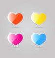 glass shiny multicolored hearts vector image vector image