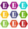 golf course navigator icon set color hexahedron vector image vector image