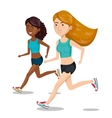 group girl running jogging sport design isolated vector image vector image