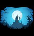 halloween bacgkround vector image