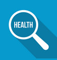 health word magnifying glass vector image