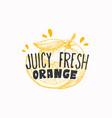 juicy fresh oranges badge label or logo template vector image