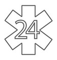 life star thin line icon medical and emblem 24 vector image vector image