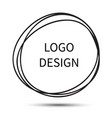 logo design hand drawn circle vector image