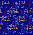 los angeles seamless pattern vector image