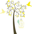 Love Tree with Birds vector image vector image