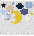 moon and stars border transparent background vector image