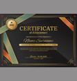 official black certificate with red black triangle vector image