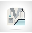 Physician flat style icon vector image