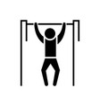 pull-up - workout - street exercise icon vector image
