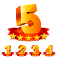 Rating numbers vector image vector image