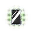 Rectangular mirror comics icon vector image vector image