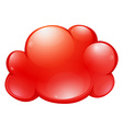 Red cloud on white vector image vector image