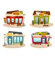 Restaurant or cafe buildings set front view vector image vector image