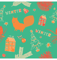 Retro Winter Christmas Pattern vector image vector image