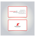 s letter logo minimal corporate business card vector image vector image