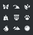 set environment icons vector image