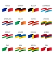 set national flags vector image vector image