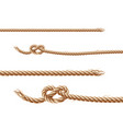 Set of ropes jute or hemp twisted cords