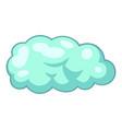 snow cloud icon cartoon style vector image