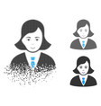 sparkle dot halftone business lady icon with face vector image vector image