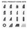 Steel structure pipe icon vector image vector image
