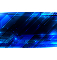 Tech blue abstraction vector image vector image