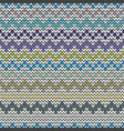tile blue and grey zig zag knitting pattern vector image vector image
