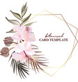 tropical exotic flowers frangipani hibiscus palm vector image vector image