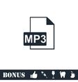 Audio file icon flat vector image