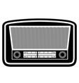 radio old retro vintage icon stock vector image