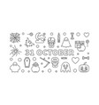 31 october holiday horizontal outline vector image vector image