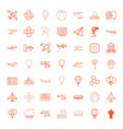 49 air icons vector image vector image