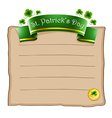 A paper with a St Patricks Day signage vector image vector image