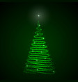 abstract christmas tree on dark background vector image